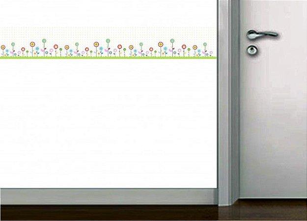 Faixa de parede flores coloridas