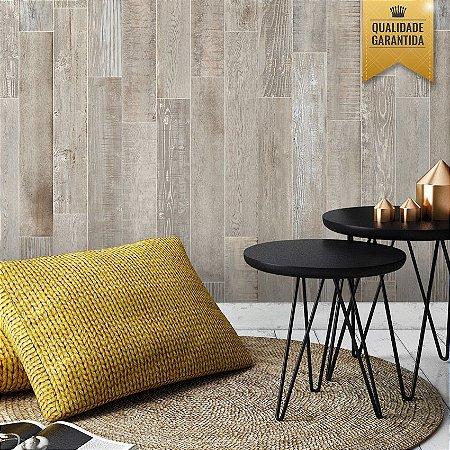 Papel de parede madeira clara escovada