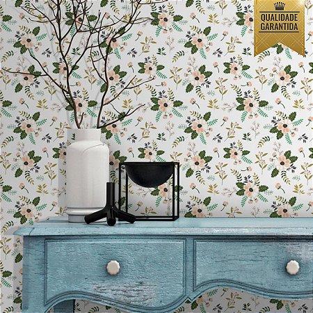 Papel de parede floral retro