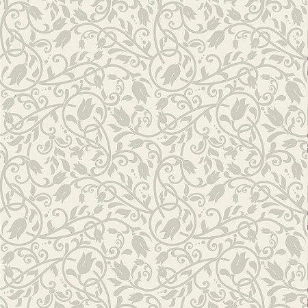 Papel de parede arabesco floral bege