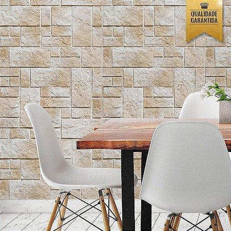 Papel de parede pedras tijolinho