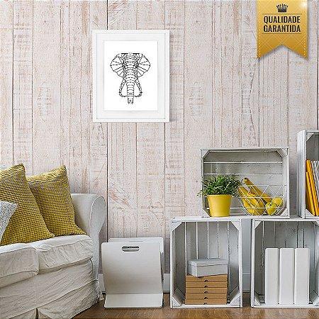 Papel de parede madeira rústica branca
