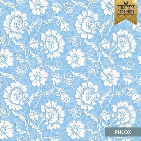 Papel de parede floral 3D azul