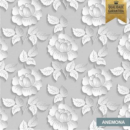 Papel de parede floral 3D