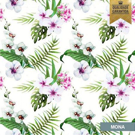 Papel de parede flores hibisco