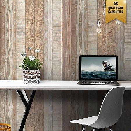 Papel de parede madeira rústica clara