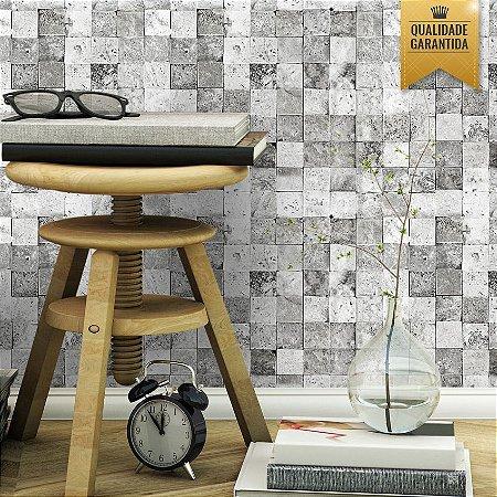 Papel de parede pedrinhas quadradas