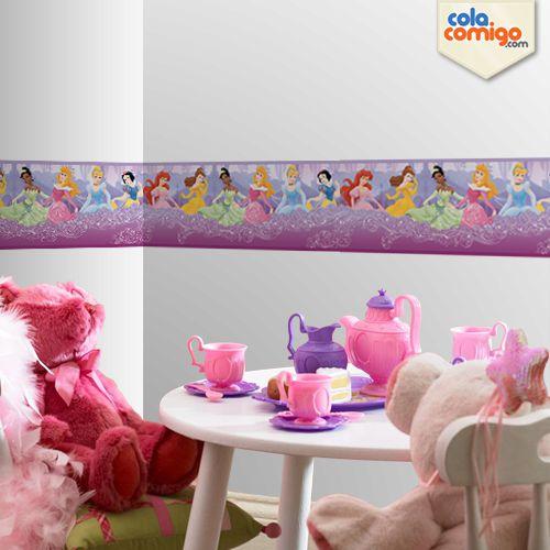 Faixa de parede princesas Disney
