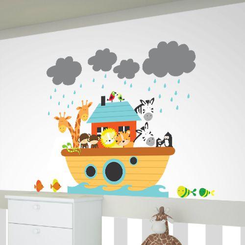 Adesivo infantil arca com bichinhos