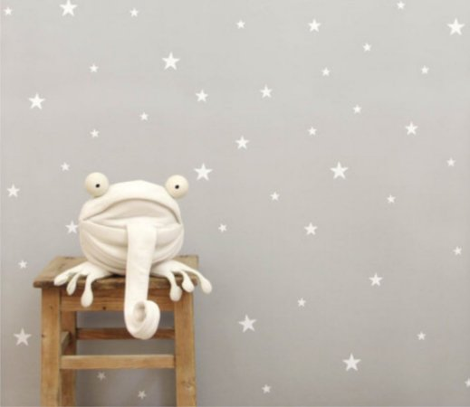 Adesivo de parede estrelas brancas