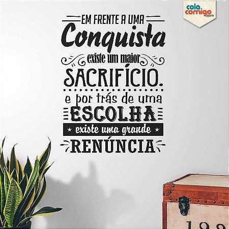 """Adesivo de Parede Frase """"Conquista"""""""