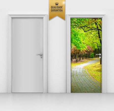 Adesivo de Porta Illusion Park