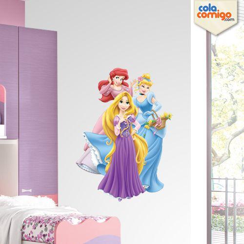 Adesivo de Parede Princesas Disney