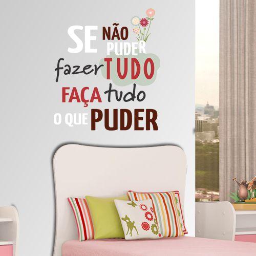 "Adesivo Decorativo Frase ""Fazer"""