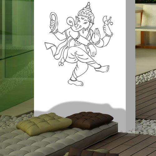 Adesivo Decorativo Deusa Ganesha