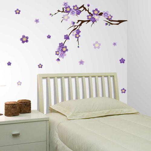 Adesivo de parede Cerejeira Lilás