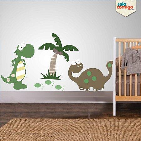 Adesivo de parede bebê dinossauro