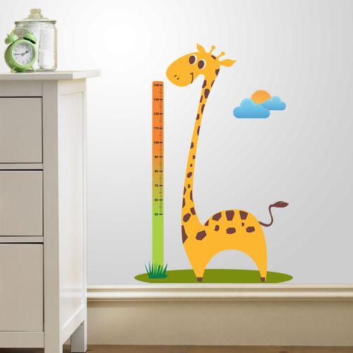 Adesivo de Parede Medidor Girafa