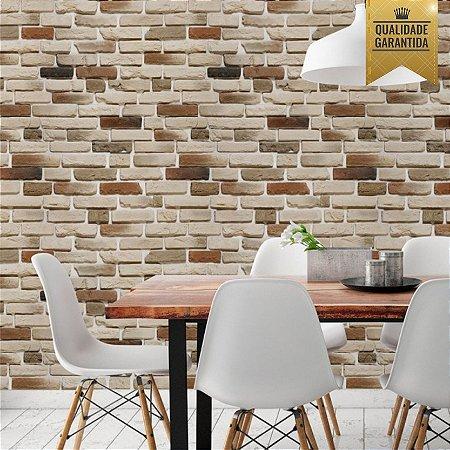 Papel de parede tijolinho claro