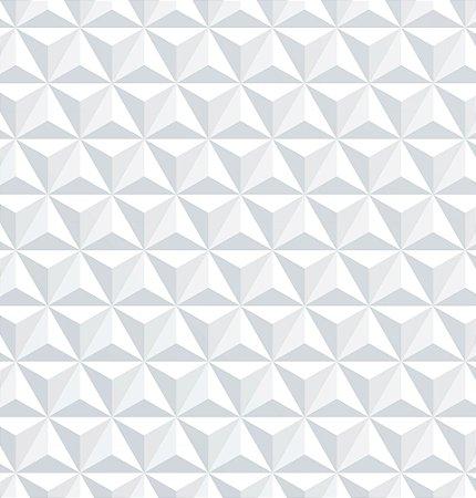 Papel de parede 3D branco triangulos