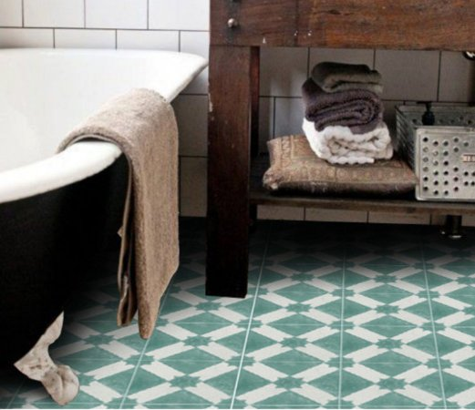 Adesivo para piso quadros verdes