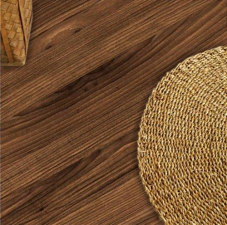 Adesivo piso madeira castanho antiderrapante
