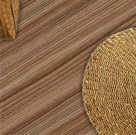 Adesivo piso madeira tom castanho