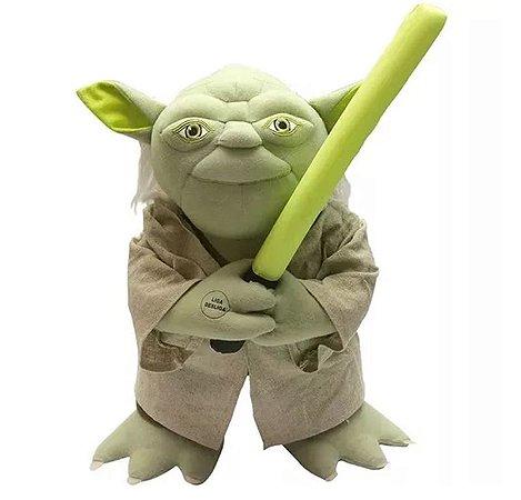 Pelúcia Mestre Yoda Com Reconhecimento De Voz 40cm Candide