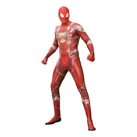 COSPLAY SPIDERMAN HOMEM ARANHA SPIDER MAN HQ'S ADULTO + FACESHELL