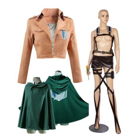 SET COSPLAY TROPA DE EXPLORAÇÃO SHINGEKI NO KYOJIN ATTACK ON TITAN + CAPA