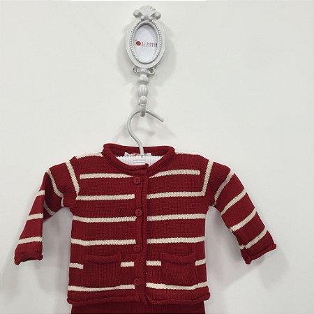 Conjunto maternidade Leblon vermelho - Tamanho RN