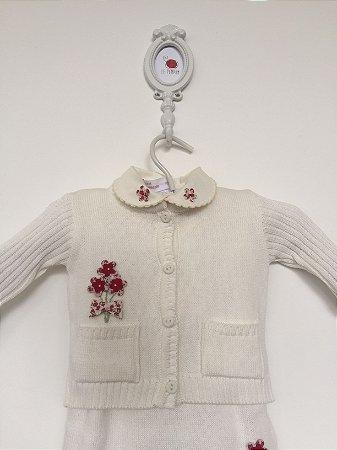 Conjunto maternidade Pierret Bouquet off-white com body - Tamanho RN