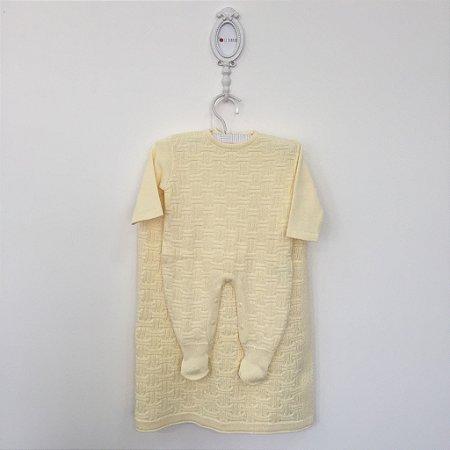 Saída maternidade brick amarela - Tamanho RN