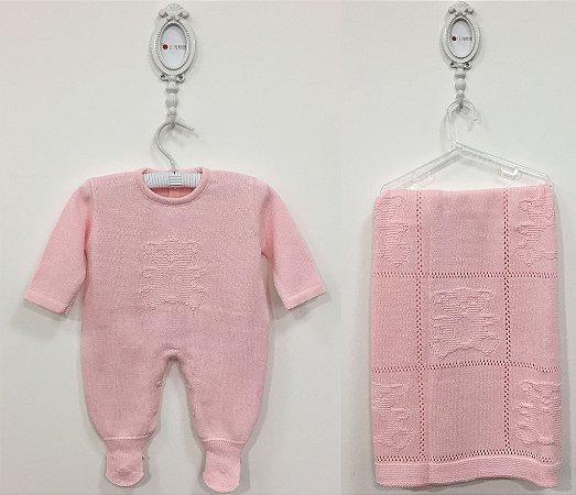 Saída maternidade Bear rosa - Tamanho RN