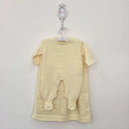 Saída maternidade Bear amarela - Tamanho RN