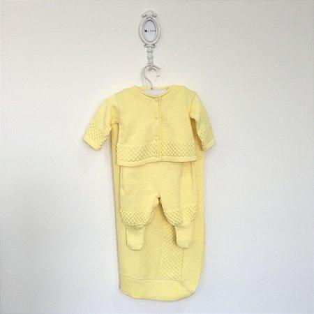 Saída maternidade Pipoca amarela - Tamanho RN