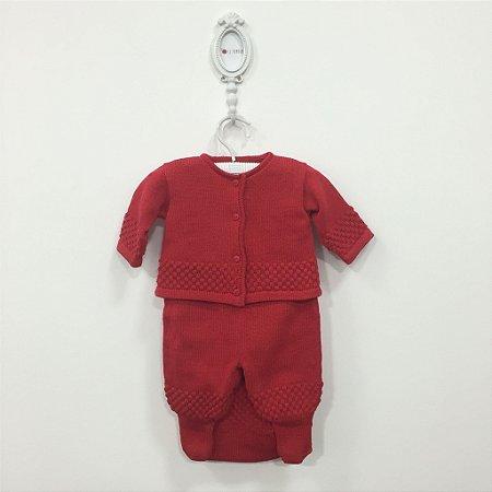 Saída maternidade Pipoca vermelha - Tamanho RN