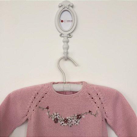 Macacão maternidade Selena rosa - Tamanho RN