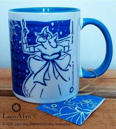 Yemanjá Caneca Porcelana Azul