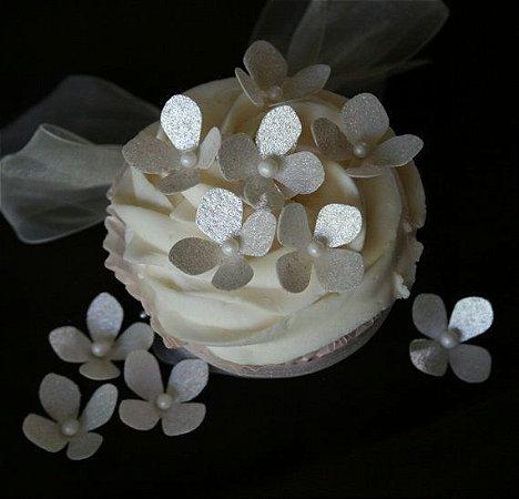 Arquivo digital modelo Flor de hortensia para papel de arroz
