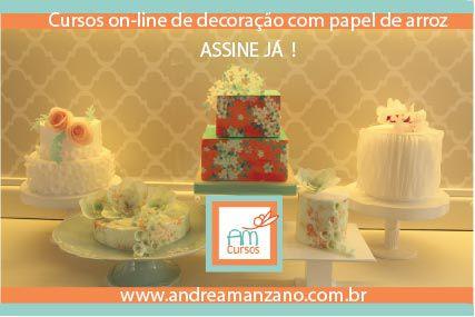 Cursos ONLINE de decoração para bolos, cupcakes e biscoitos