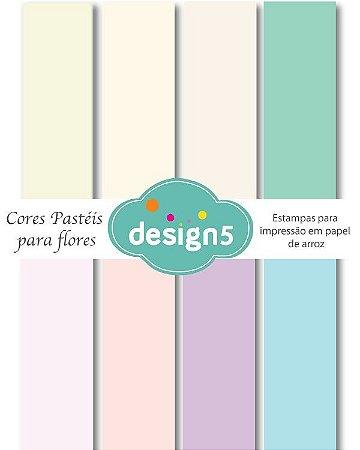 kit de cores pastéis para impressão em papel de arroz