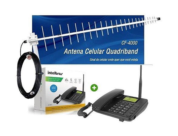 Kit Telefone Celular De Mesa Gsm Cfa5022 Dual Chip