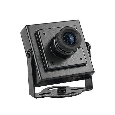Mini Câmera Com Áudio 700 Linhas Lente 3,6