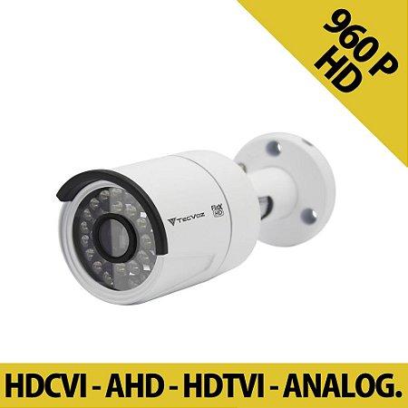 Câmera HD Tecvoz QCB 136 Infra 25 Metros Híbrida - HDTVI | AHD | HDCVI | ANALÓGICA