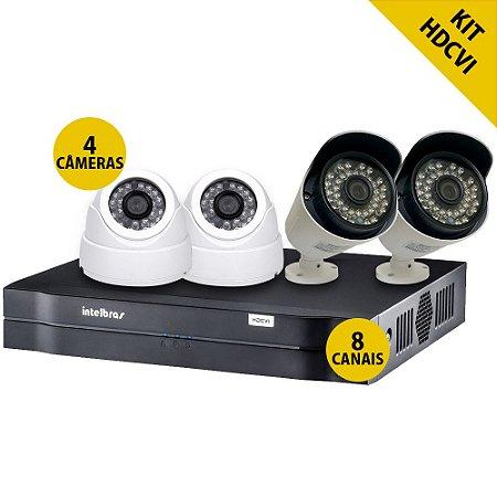 Kit CFTV Completo Hdcvi 8 Canais 4 Câmeras Externas 2 Câmeras Internas