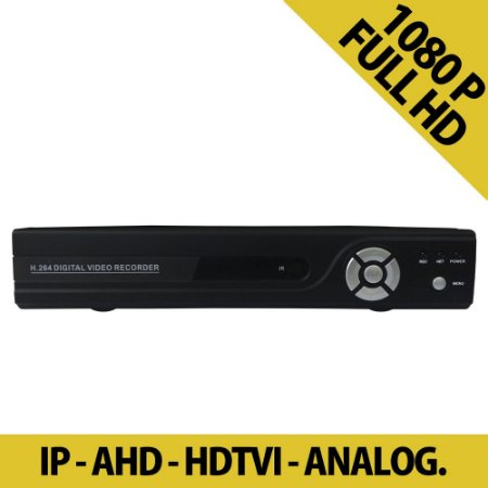 DVR Stand Alone Full HD 1080p 8 Canais Hibrido IP - AHD - HDTVI - ANALOG.