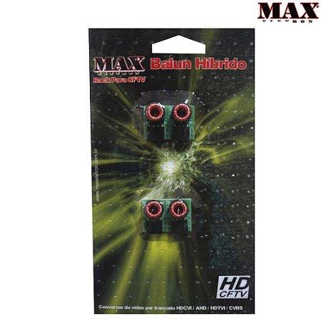 Balun Conversor Para Rack Max Eletron HD Híbrido Com 4 Unidades