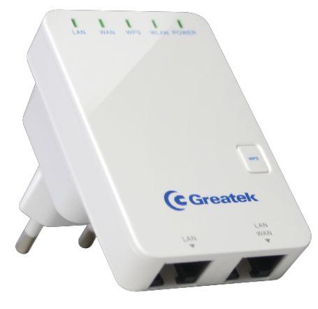 Roteador de Tomada Greatek RTWR3301N Wifi Sem Fio 300Mbps WR-3300N