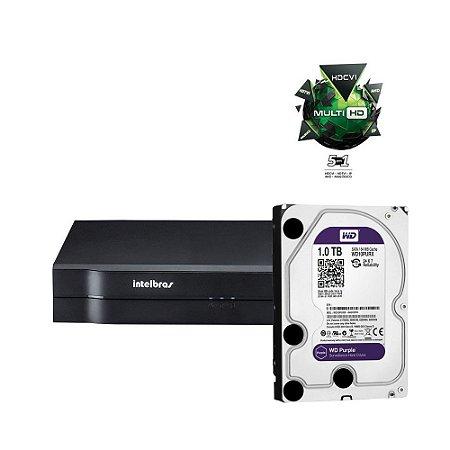 Dvr 4 Canais Multi HD Intelbras Mhdx 1004 Com HD 1 Terabyte Purple